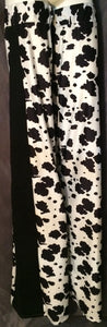 Stilt Covers - Cow Print 57""