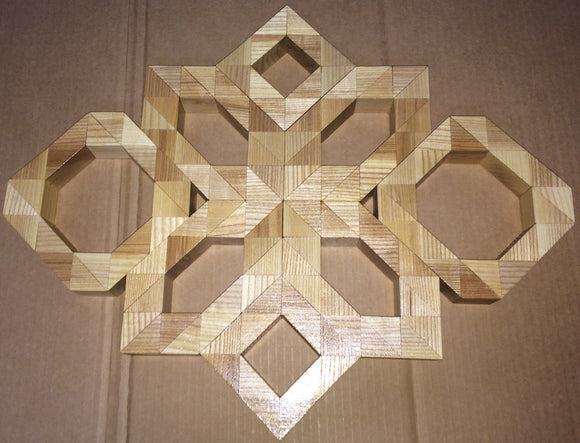 Wood Block Art - Snowflake