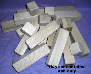 Wood Blocks (20 block set) - UnPainted