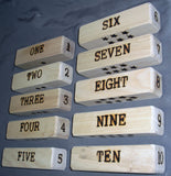 Wood Blocks - Numbers and Languages - French English
