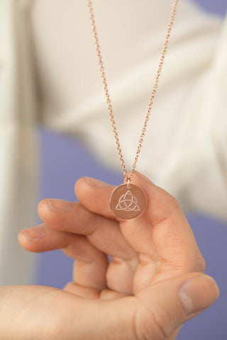 Blessed Be Magick - Triquetra Round Disc Necklace