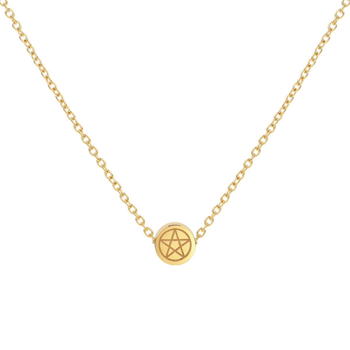 Pentacle Mini Pendant Necklace