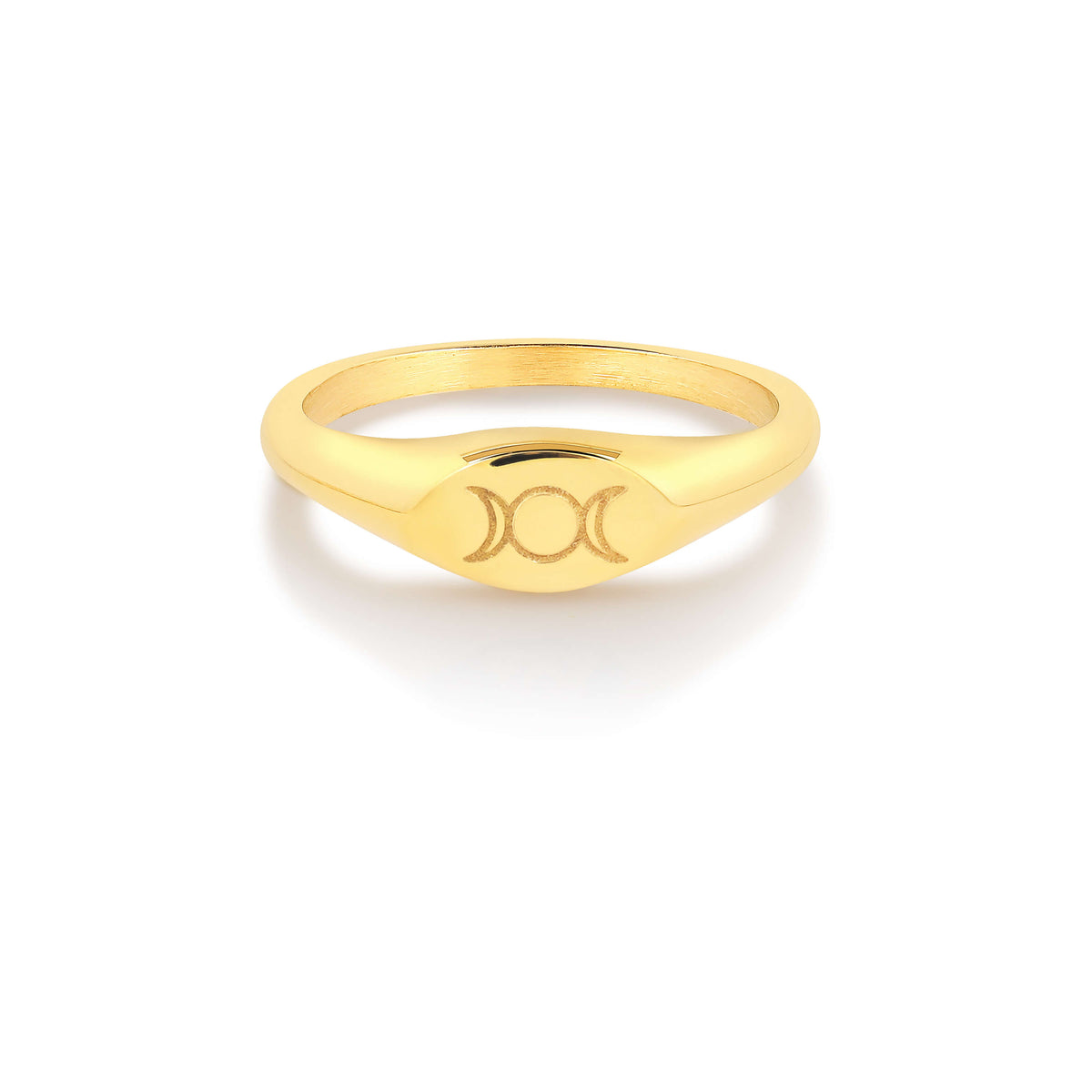 Triple Goddess Mini Signet Ring