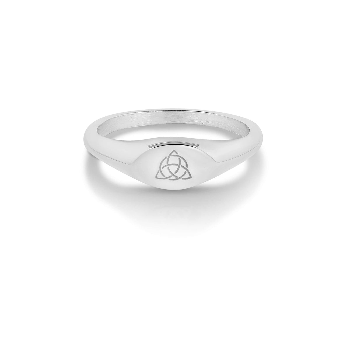 Triquetra Mini Signet Ring