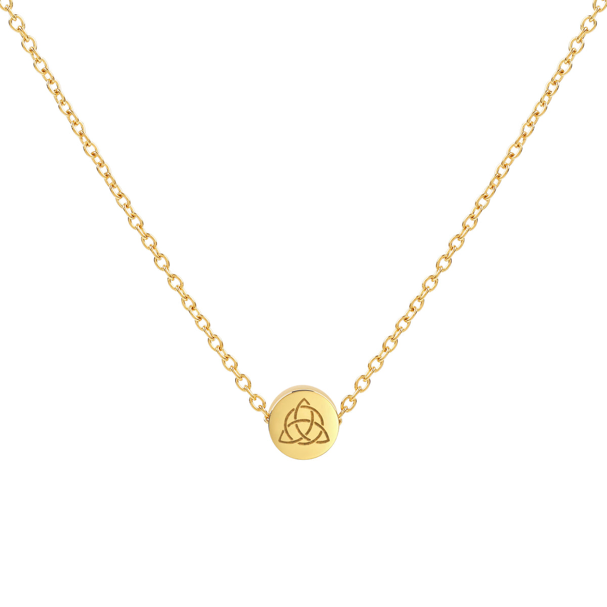 Sale - Triquetra Necklace (16.5 inches length) in Gold