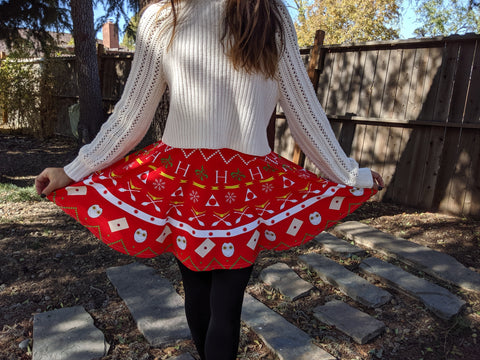 Potter Christmas Skater Skirt