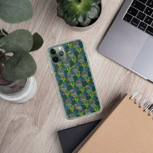 Tropical Blue iPhone Case