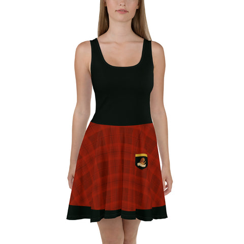 House of the Brave Skater Dress (Black Top)