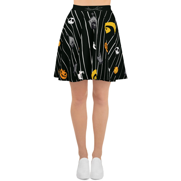 Pumpkin King Skater Skirt