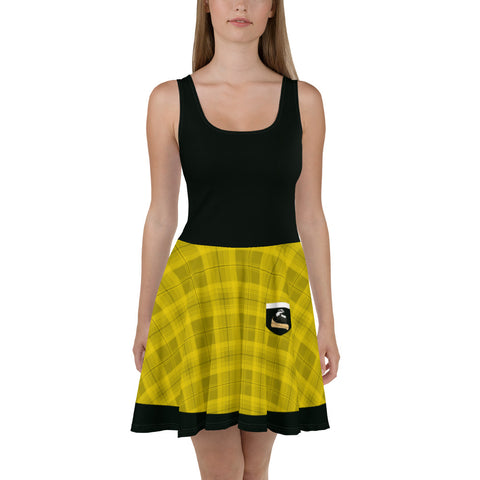 House of Loyalty Skater Dress (Black Top)