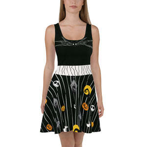 Pumpkin King Skater Dress