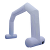 Inflatable Archway – EasyArch: stock color prepared for banner M (6 x 4.25) / white / With Feet - Inflatable24.com