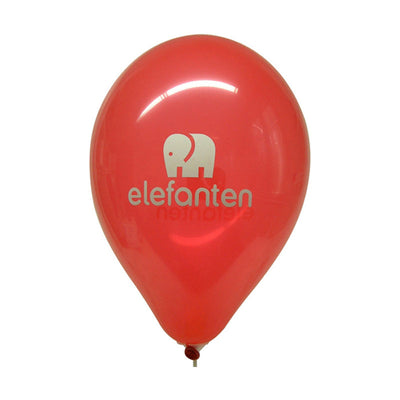Latex balloon for advertising with printed logo - Double-Sided/Single-Color  - Inflatable24.com