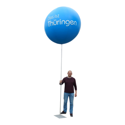 "Advertising balloon with stand height 450 cm (180"") max for indoor use 1.5m-60"" - Inflatable24.com"