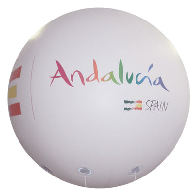 "Advertising balloon with logo 60""-160"" - Werbeballon 1,50m - 4m mit Logo 2m-80"" - Inflatable24.com"