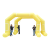 Inflatable Archway – EasyArch: stock color prepared for banner M (6 x 4.25) / yellow / With Feet - Inflatable24.com