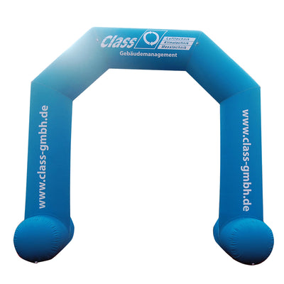 Inflatable Archway – XhibArch double layer airtight with logo S (4 x 3) / All on velcro banner / No Feet - Inflatable24.com