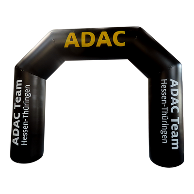 Inflatable Archway – ProArch: stock color with logo S (4 x 3) / Directly on arch / With Feet - Inflatable24.com