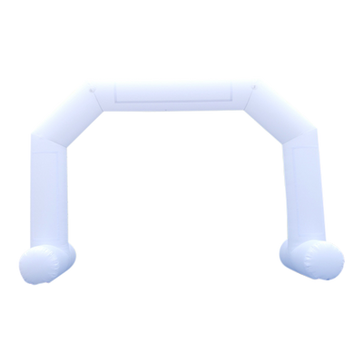 Inflatable Archway – EasyArch: stock color prepared for banner L (8 x 5) / white / With Feet - Inflatable24.com