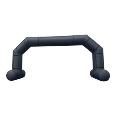 Inflatable Archway – EasyArch: stock color prepared for banner L (8 x 5) / black / With Feet - Inflatable24.com