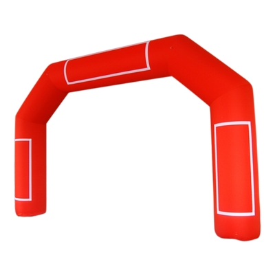 Inflatable Archway – EasyArch: stock color prepared for banner L (8 x 5) / red / No Feet - Inflatable24.com