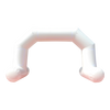 Inflatable Archway – EasyArch: stock color prepared for banner S (4 x 3) / white / With Feet - Inflatable24.com