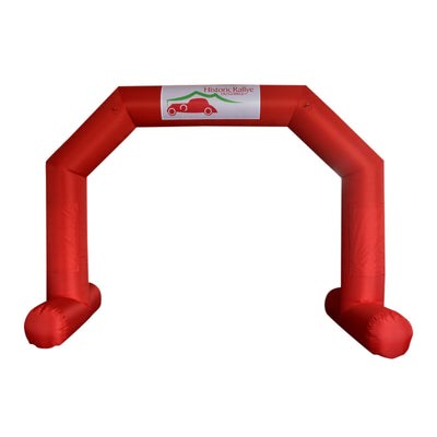 Inflatable Archway – EasyArch: stock color with logo  - Inflatable24.com