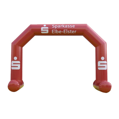 Inflatable Archway – EasyArch stock color with logo S (4 x 3) / All on velcro banner / With Feet - Inflatable24.com