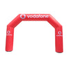Inflatable Archway – EasyArch: stock color with logo S (4 x 3) / Directly on arch / No Feet - Inflatable24.com