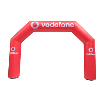 Inflatable Archway – EasyArch stock color with logo S (4 x 3) / Directly on arch / No Feet - Inflatable24.com
