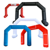 Inflatable Archway - XhibArch (double layer, airtight): stock color prepared for banner  - Inflatable24.com