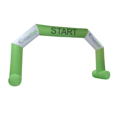 Inflatable Archway – EasyArch stock color with logo L (8 x 5) / Directly on arch / With Feet - Inflatable24.com