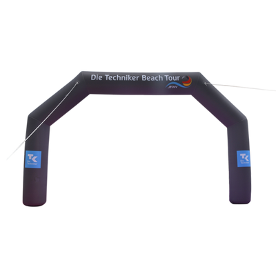 Inflatable Archway – XhibArch double layer airtight with logo L (8 x 5) / All on velcro banner / No Feet - Inflatable24.com