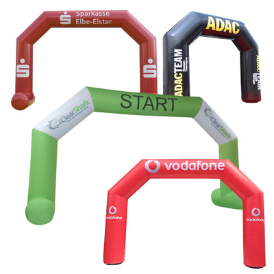 Inflatable Archway – EasyArch stock color with logo  - Inflatable24.com