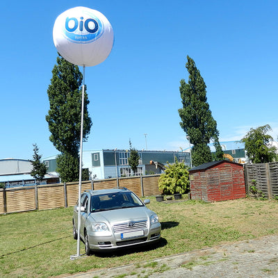 "Balloon with stand for outdoor advertising - 230""-6m height max 1.5m-60"" / Car Base - Inflatable24.com"