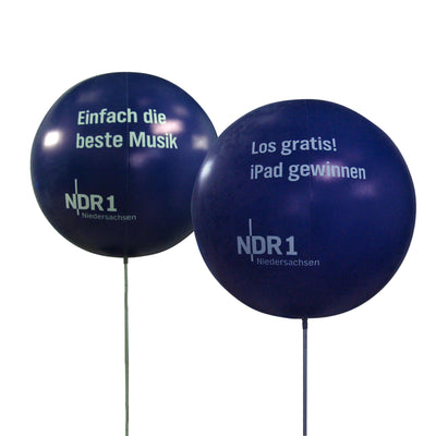 Promoballoon Full Set with ball shape balloon / No Lighting - Inflatable24.com