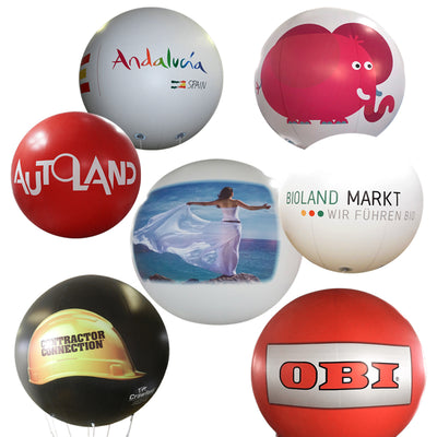"Advertising balloon with logo 60""-160"" - Werbeballon 1,50m - 4m mit Logo 2.5m-100"" - Inflatable24.com"