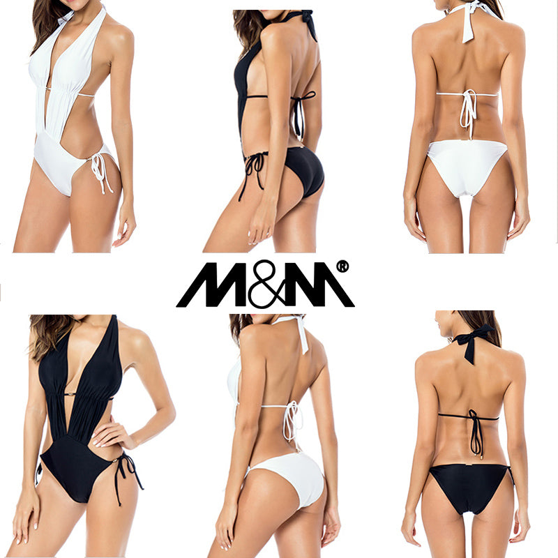 Sexy Plunge Cut Out Backless Monokini