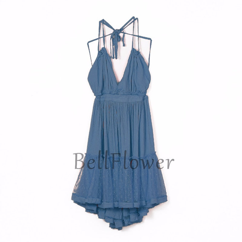 Summer Boho Dress Women 2019 Strapless Backless Sexy Mini Dresses Vestidos Sundress Bohemian Women Beach Dress XS- XXL