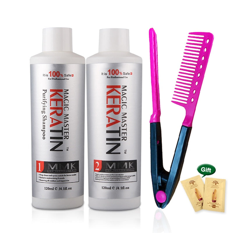 120ml Treatment Keratin Coconut Oil Hair Straightening Cream w/out Formalin Set + Free Red Comb