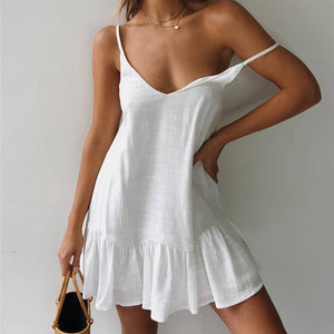 Loose Ruffled Summer Dress