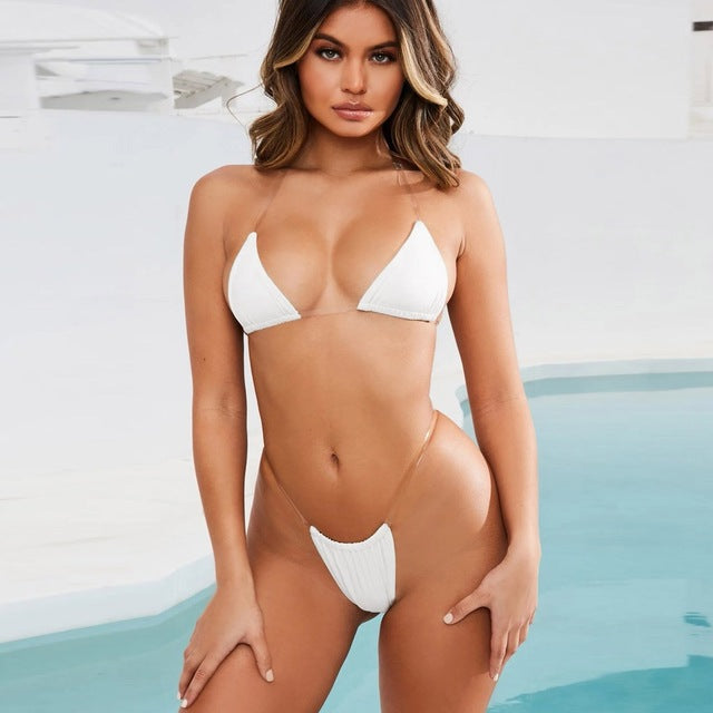 Sexy Micro Brazilian Thong Bikini (with Plus Size) - Two Piece Set