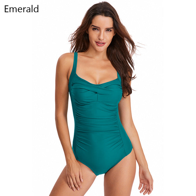 Elegant One Piece Swimwear with Tummy Control