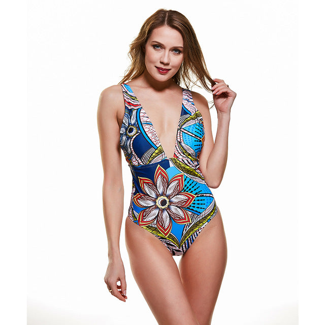 2020 women one piece swimsuit sexy leopard print swimwear push up bathing suits bandage cross female beachwear backless Bodysuit