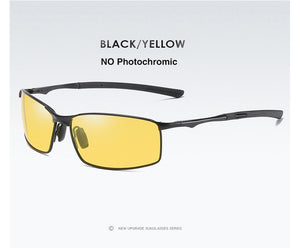 AORON Polarized and Mirrored Sunglasses (Men), Yellow Color, Rectangular Shape