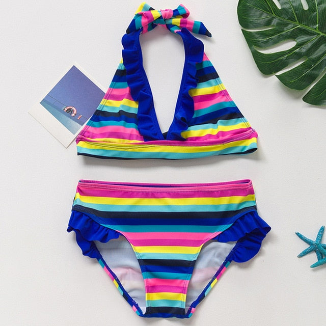 Girls Sporty, Playful Bikini Set