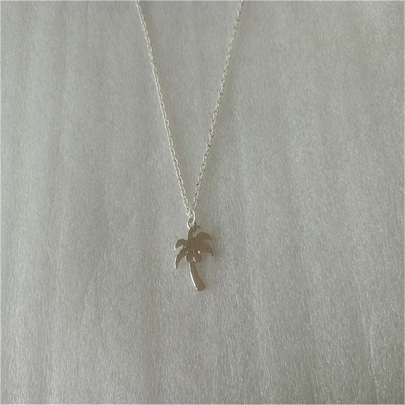 Simple Tropical Coconut Tree Necklace