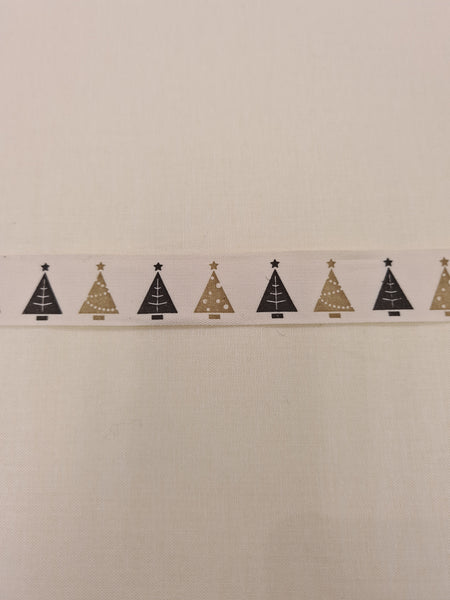 Christmas Ribbon - Christmas Trees