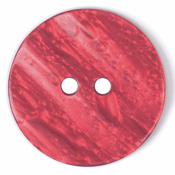 2 Hole Button - Red Shell