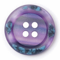 4 Hole Button - Purple Marble Effect